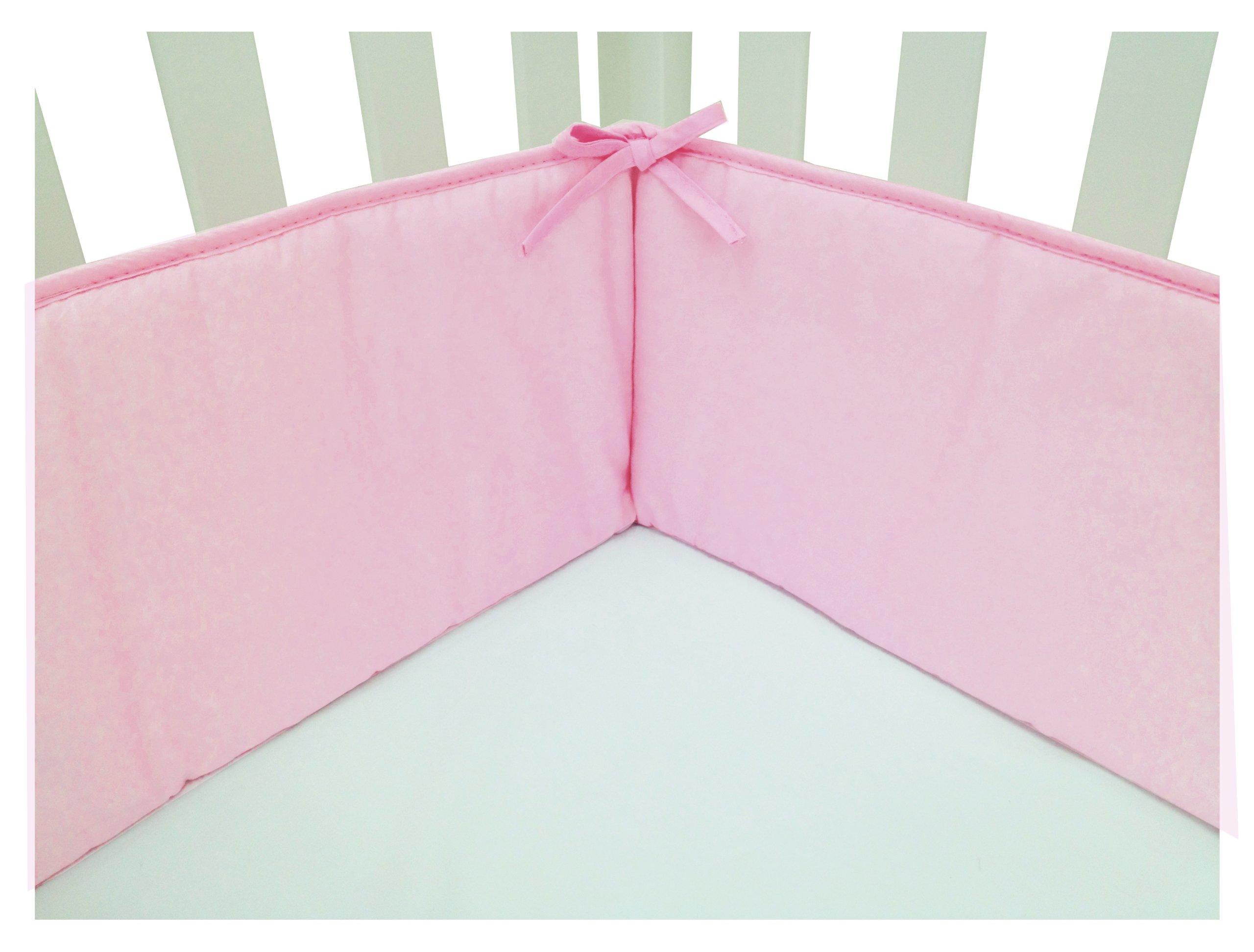 American Baby Company Cotton Percale Crib Bumper, Pink