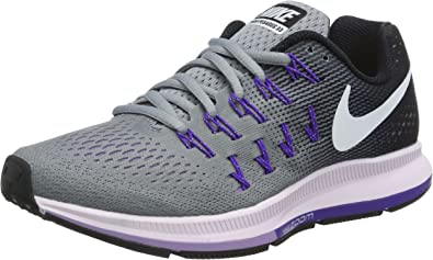 Desgracia Materialismo Musgo  Amazon.com | Nike Womens Zoom Pegasus 33 Stealth/White-Black-Firece Purple  6 | Running