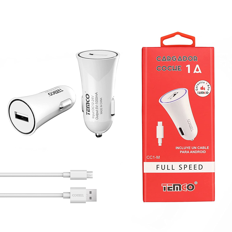 TEMCO CARGADOR COCHE MICRO USB FOR ANDROID HUAWEI XIAOMI ...