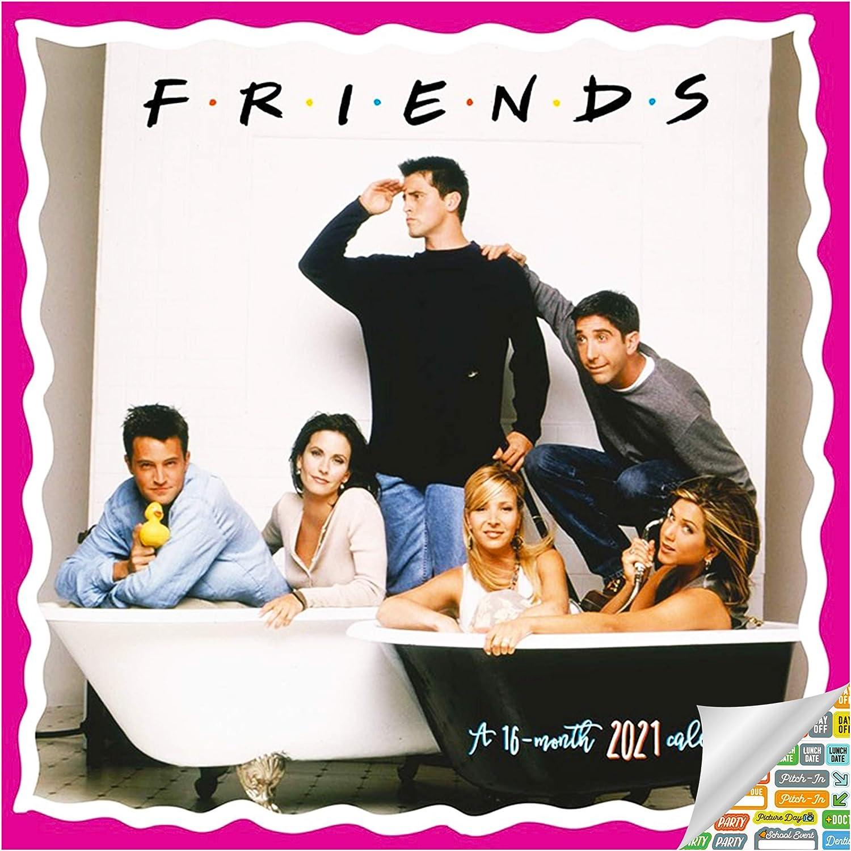 Friends Calendar 2021 Bundle - Deluxe 2021 Friends Mini Calendar with Over 100 Calendar Stickers (Friends Gifts, Office Supplies)