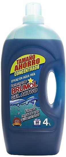 Brumol - Detergente gel activo - Fórmula renovada con quitamanchas - 4 l
