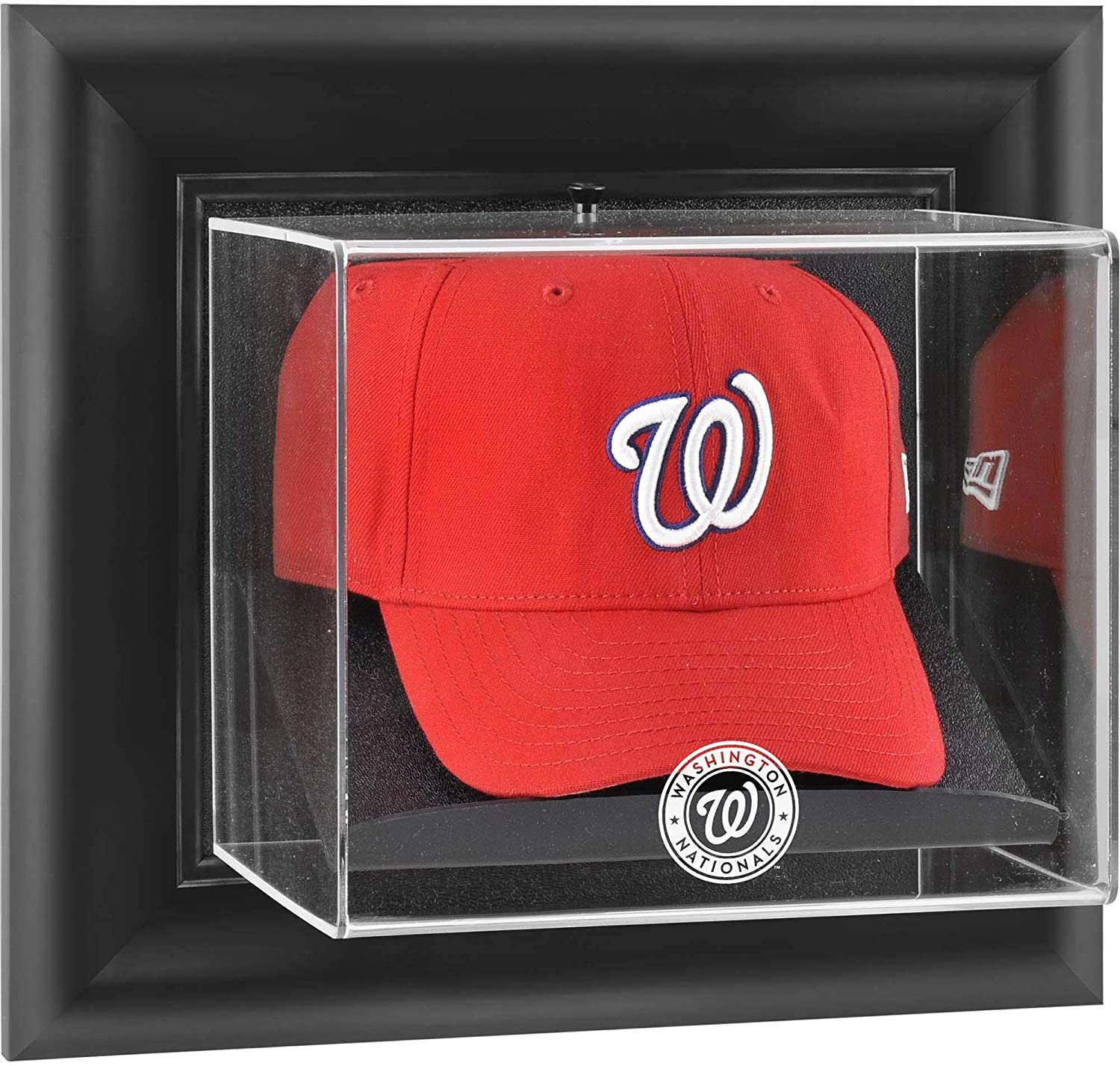 Washington Nationals Framed壁マウントロゴキャップDisplayケース  クリア B001MVXDZU
