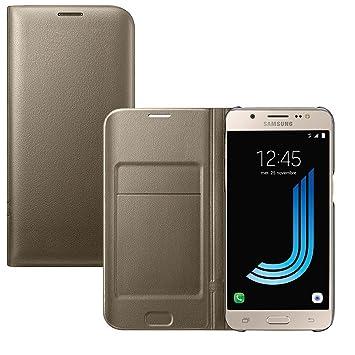 Lincivius Funda Samsung J5 2016 [Flip Cover] Carcasa Galaxy J5 2016 Proteccion con Tapa A Libro Estuche Resistente Anti Golpes Accesorios