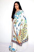 Varnam Cotton Saree (Veda1001_Cremae)