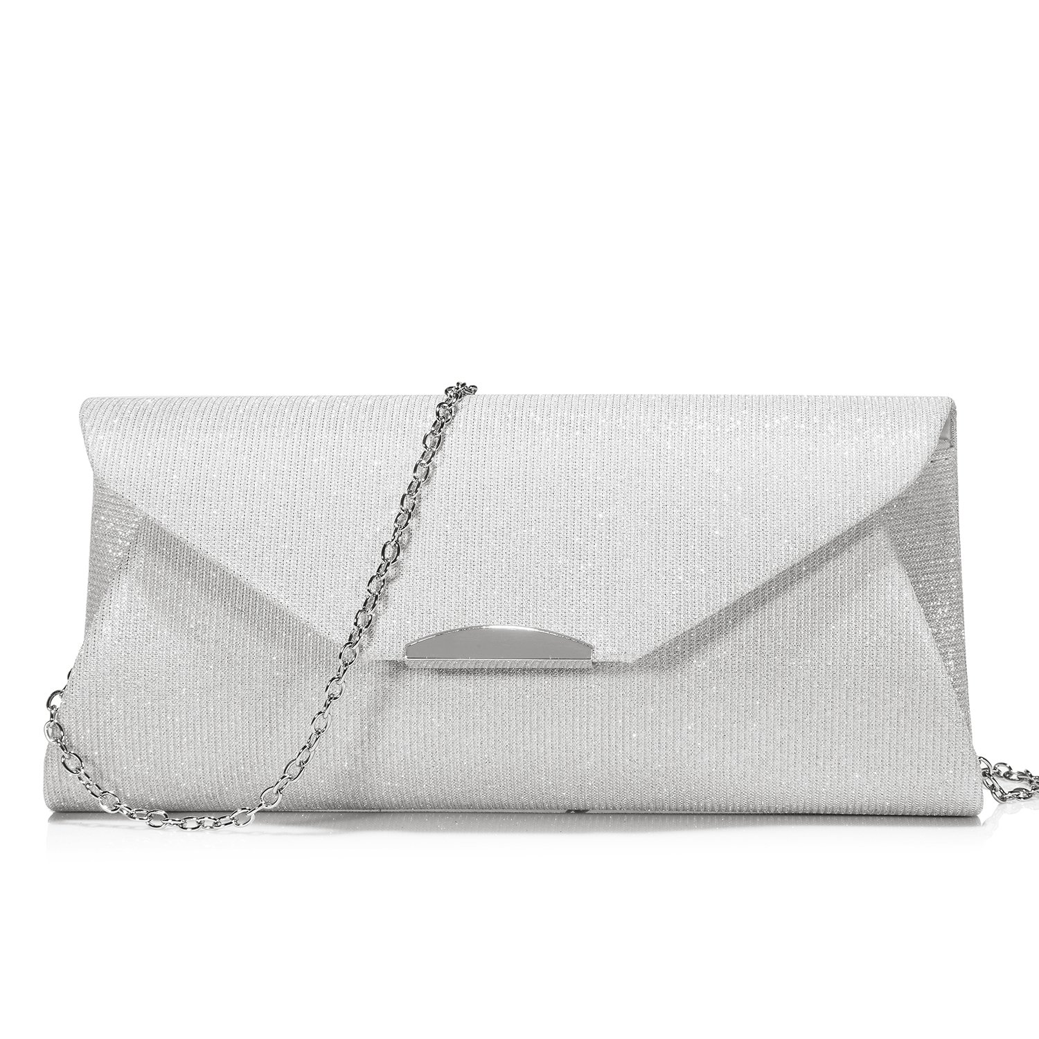 Evening Bag Clutch Handbags Envelope Purse for Women Flap Glitter with Chain Strap ARHNWB110601LK-FBA