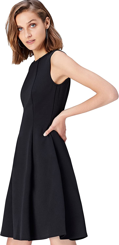 TALLA 44 (Talla del Fabricante: X-Large). Marca Amazon - find. Pantalón Casual de Pierna Ancha para Mujer Negro (Black) 44 (Talla del fabricante: X-Large)