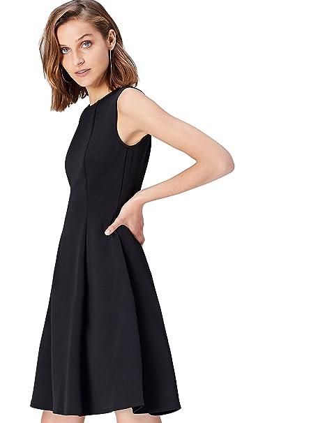 f72665ec69d0 FIND Vestito Midi A-Line Donna  Amazon.it  Abbigliamento