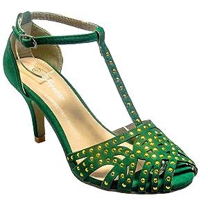 Women Forever Aspen-2 T-Strap Gladiator Flip Flop Sling Back Kitten Heel Sandale Shoes