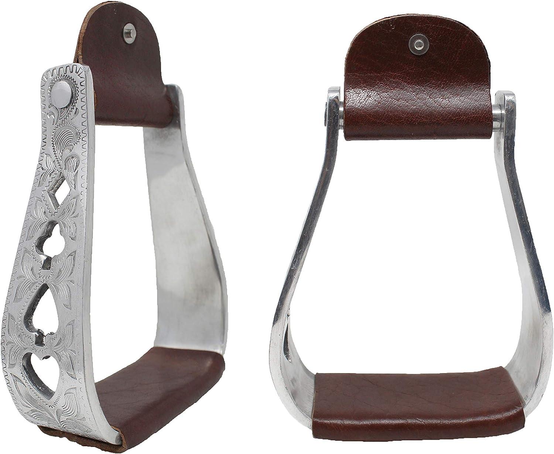 PRORIDER Horse Riding Equestrian Saddle English Iron Stirrups 4-3//4 Wide Blue 51114BL