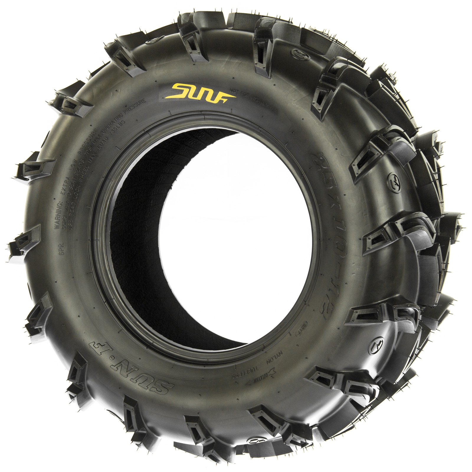 SunF A050 AT Mud & Trail 25x11-10 ATV UTV Tires, 6PR, Tubeless by SunF (Image #4)