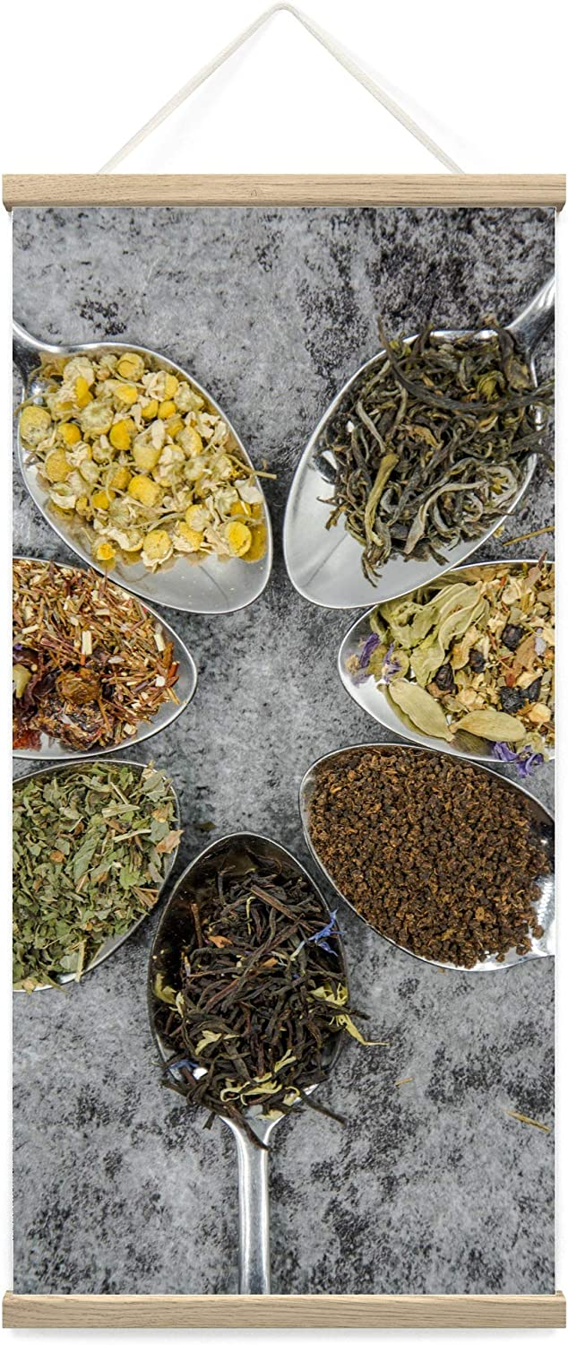 bestdeal depot Hanging Poster Spices VI Farmhouse/Country Food Fun Kitchen Multicolor Photography Spices Canvas Prints Wall Art for Living Room, Bedroom - 18