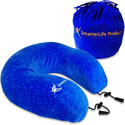 Luxury Travel Pillow - Premium Memory Foam for Perfect Neck Support