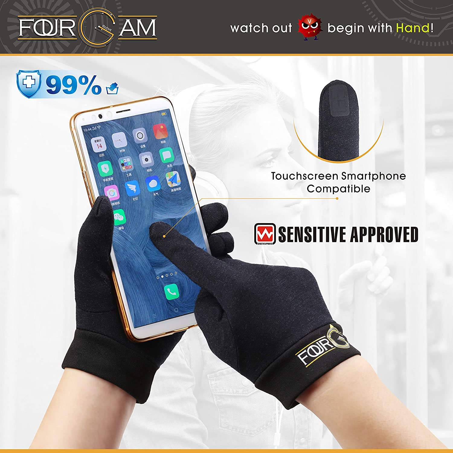 Workout Gloves for Training,Running,Cycling,Contact-free for Adults and Kids