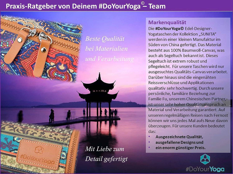 #DoYourYoga Yoga Bolsa Sunita de #Fabricado en Lona (Lona), Complejo, Extra Grande de Yoga y Gimnasia hasta un tamaño de 186 x 63 x 0,6 cm, ...