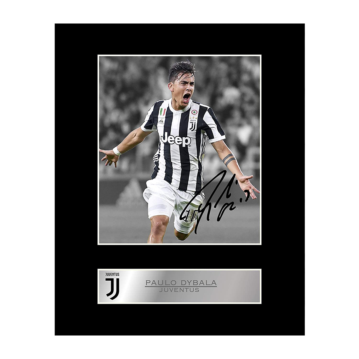 94bd743c536 Paulo Dybala Signed Mounted Photo Display Juventus FC  1 Autographed Gift  Picture Print  Amazon.co.uk  Kitchen   Home