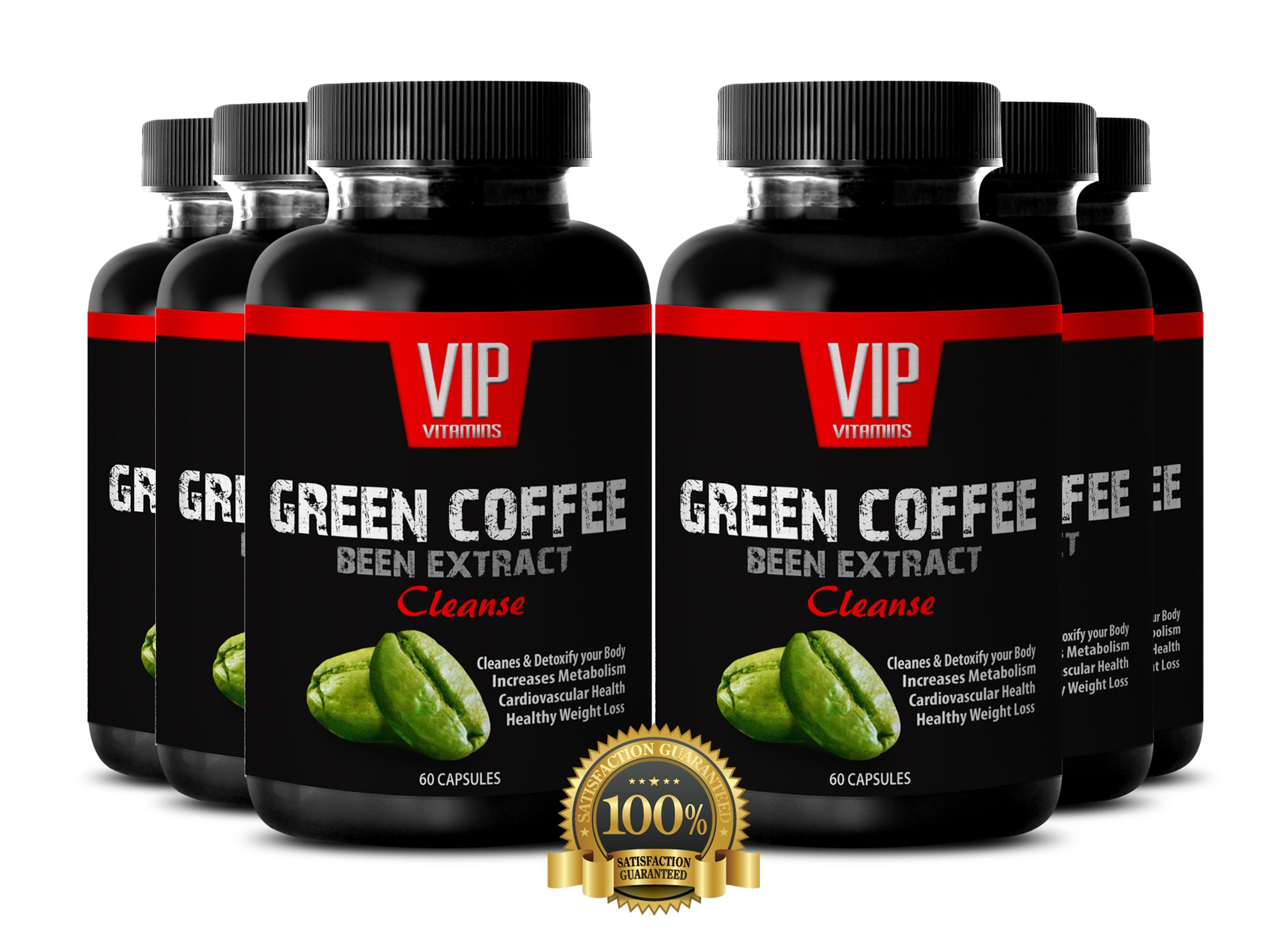 Top Fat Burner Green Coffee Beans- Natural Green Coffee Beans Extract for Weight Loss (6 Bottles 360 Capsules)