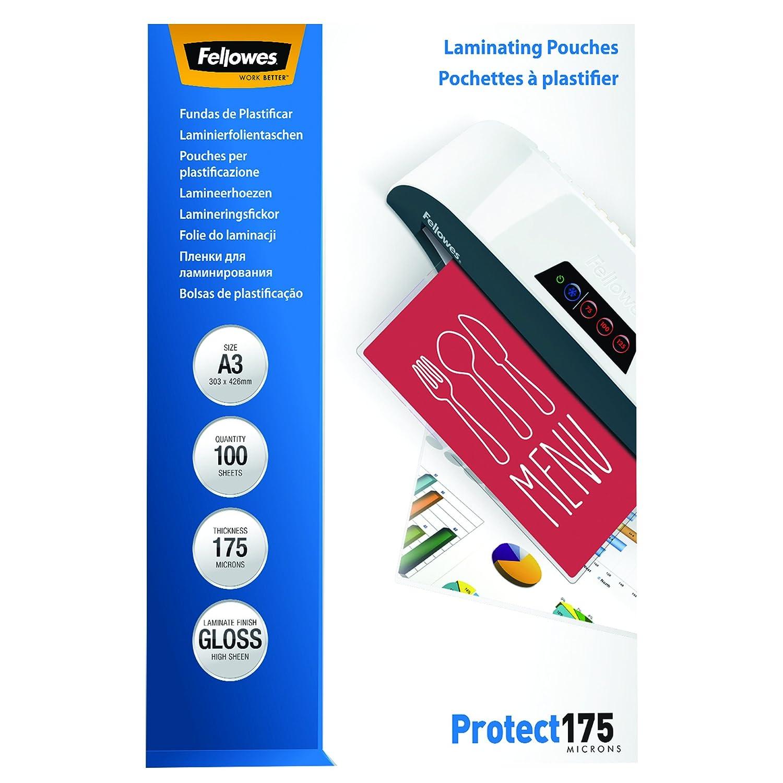 Fellowes 5308803 Pouches Lucide Protect175, Formato A3, 175 Micron, Confezione da 100 Pezzi