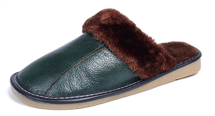 AgeeMi Shoes Damen Slip On Rund Zehe PU Pantoffeln Soft Erwachsene Hausschuhe,EuT07 Wein Rot 270(38.5/39)