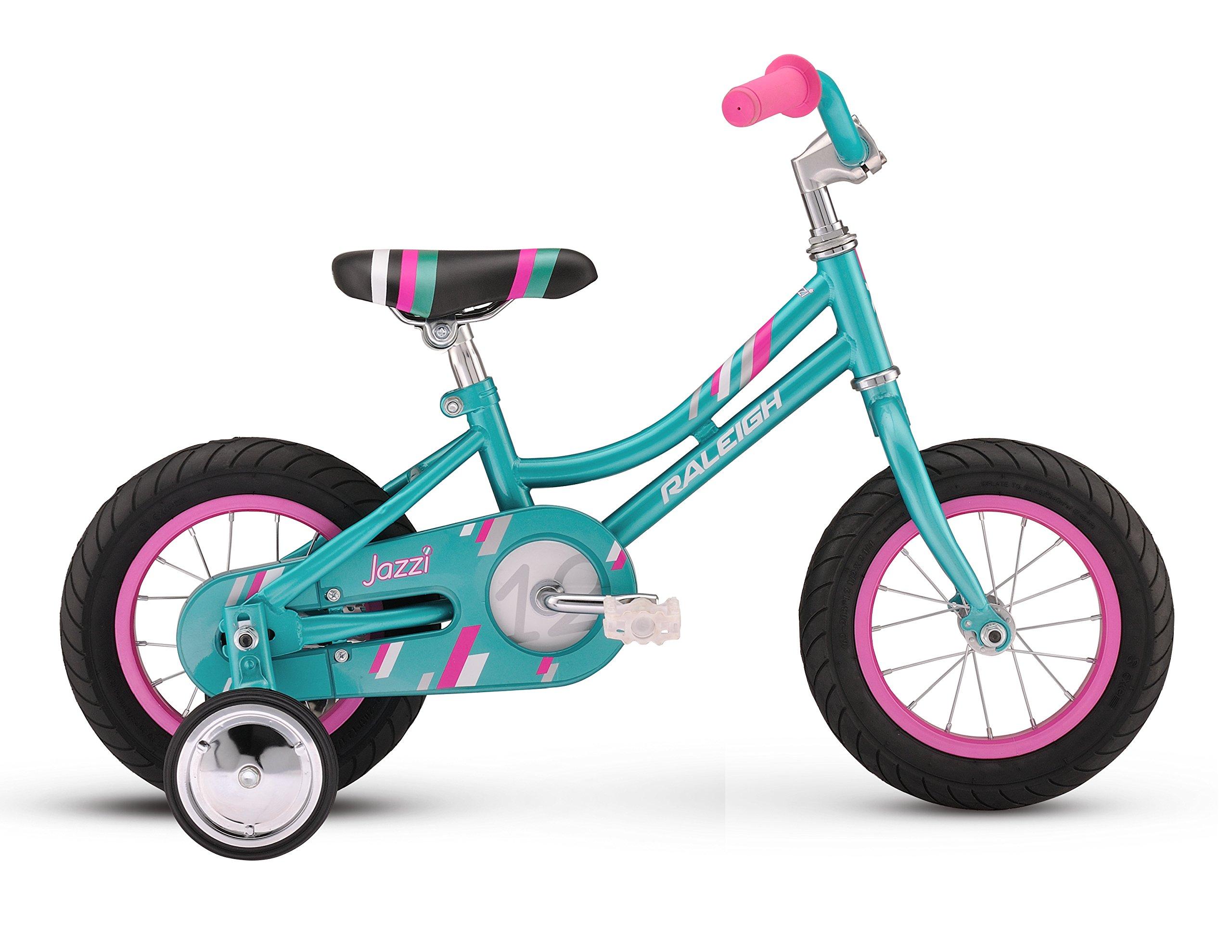 Raleigh Bikes Girls Jazzi 12 Bike, One Size, Teal