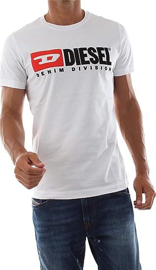Diesel 00S1DF 0CATJ - T-Diego-Division Camisetas Y Camisa DE Tirantes Hombre White L: Amazon.es: Ropa y accesorios
