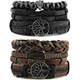 HZMAN Genuine Leather Tree of life Bracelets...