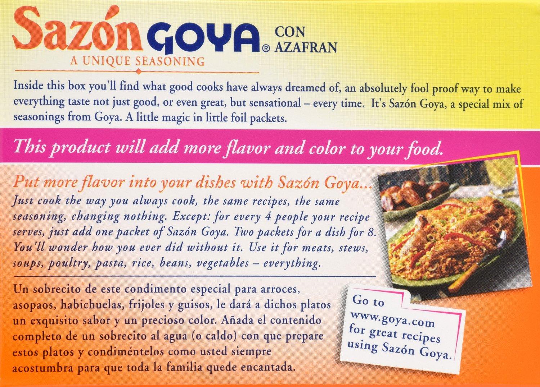 Goya Foods Sazon Azafran Seasoning, 1.41 Ounce by Goya (Image #2)