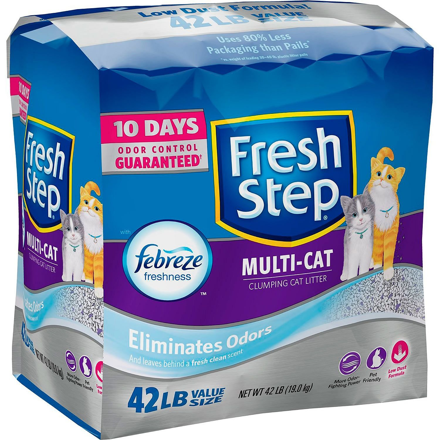 Fresh Step Multi-Cat with Febreze Clumping Cat Litter (42 lbs.) - 6 PACK