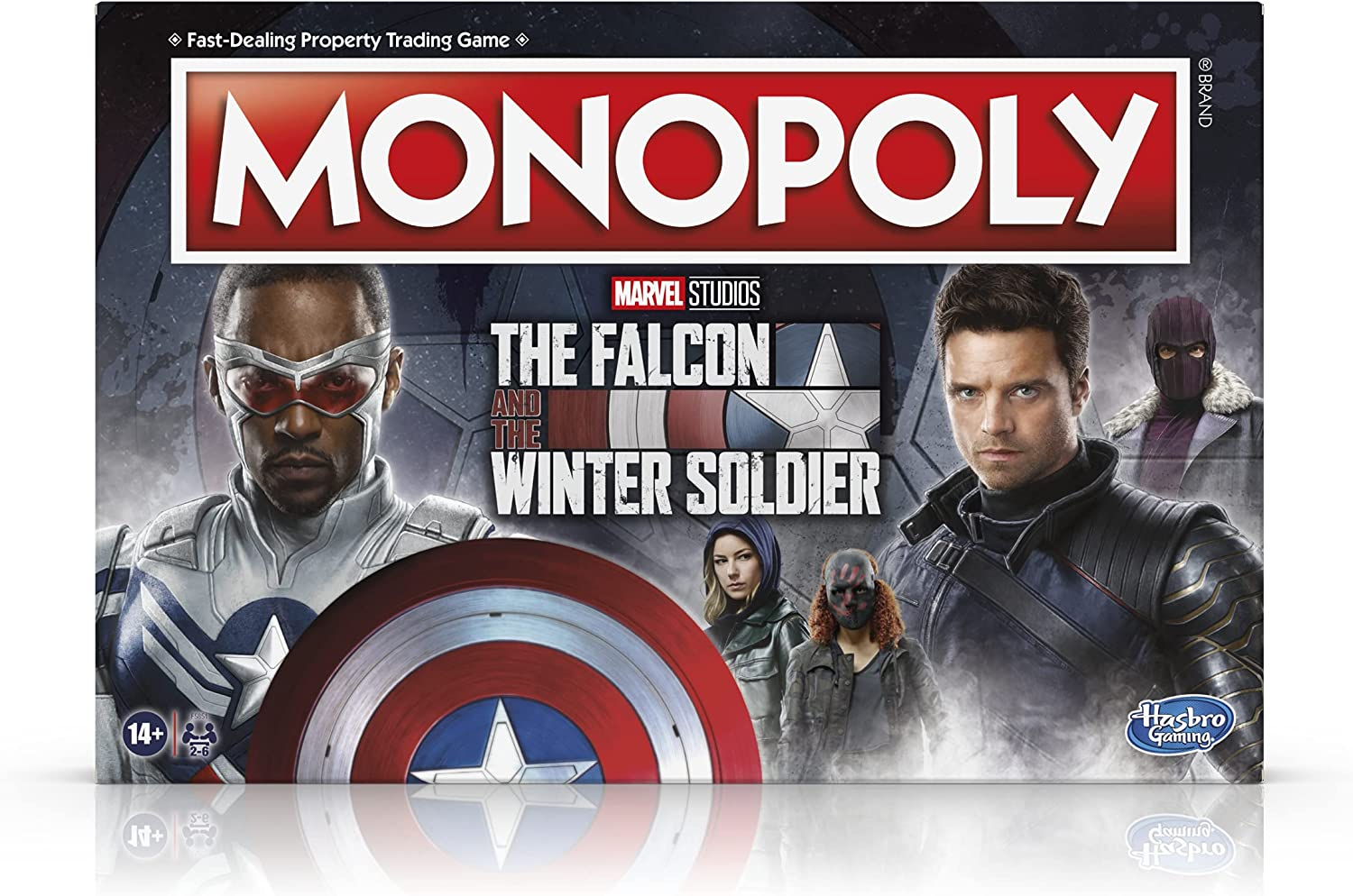 Monopoly: Marvel Studios The Falcon and The Winter Soldier Edition Board Game for Marvel Fans, Game for 2-6 Players for Ages 14 and Up