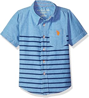 Amazon.com  U.S. Polo Assn. Boys  Short Sleeve Solid Pique Polo ... 385ce106a8d4