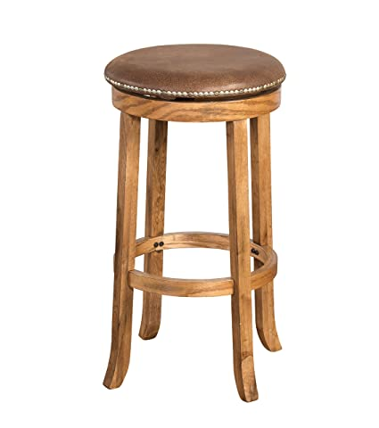 Sunny Designs 1782RO Sedona Swivel Stool, Rustic Oak Finish