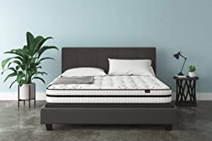 Ashley Furniture Signature Design - 10 Inch Chime Express Hybrid Innerspring - Firm Mattress - Bed in a Box - King - White