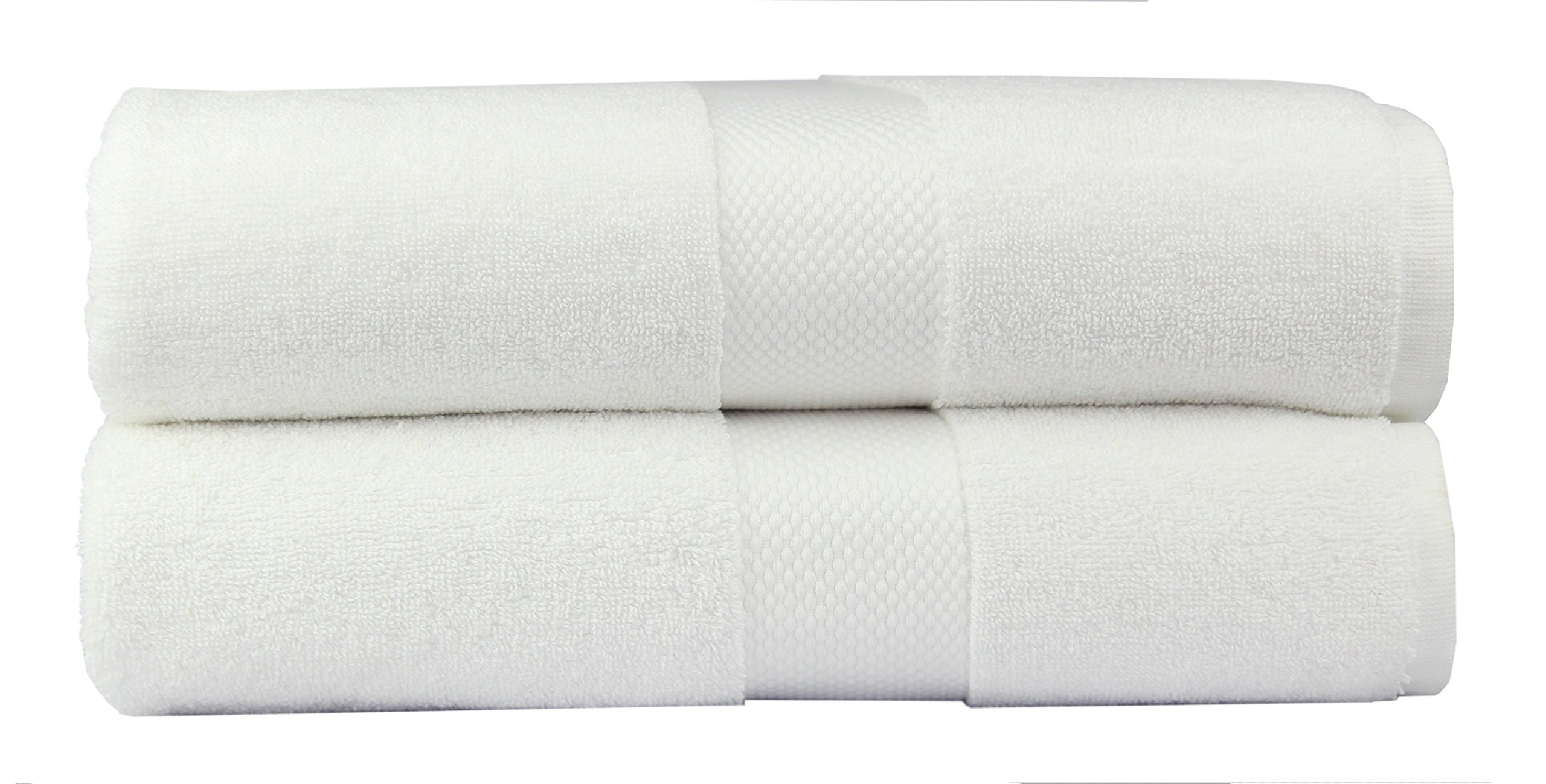 Cotton Craft - 2 Pack Luxuriously Oversized Hotel Bath Sheet - White - 100% Ringspun Cotton - 40x80 - Heavy Weight 700 Grams - 2 Ply Construction - Highly Absorbent - Easy Care Machine Wash