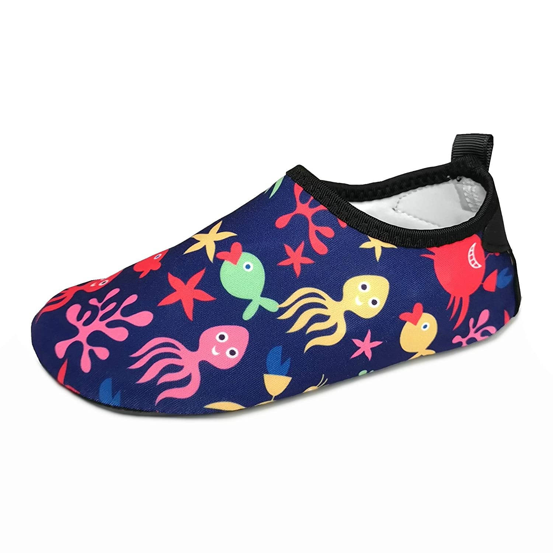 BFOEL Kids Swim Water Shoes Quick Dry Slip on Aqua Socks(Toddler/Little Kid)