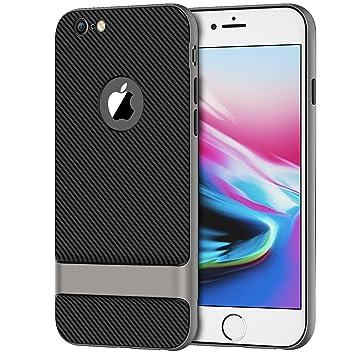 JETech Funda para Apple iPhone 6 iPhone 6s, Cubierta Protectora Delgada con Amortiguación de Impactos, Diseño de Fibra de Carbono, Gris: Amazon.es: ...