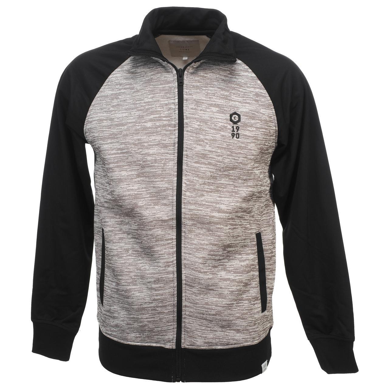 Jack and jones - Boom black fz sweat - Sweats vestes zippée 57150