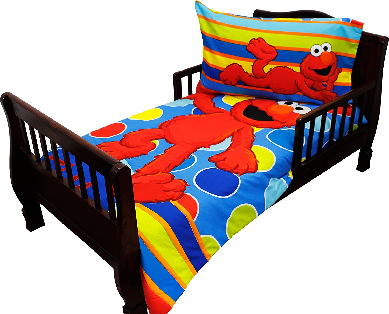 Sesame Street Elmo 4 - Piece Toddler Bedding Set Furniture ...