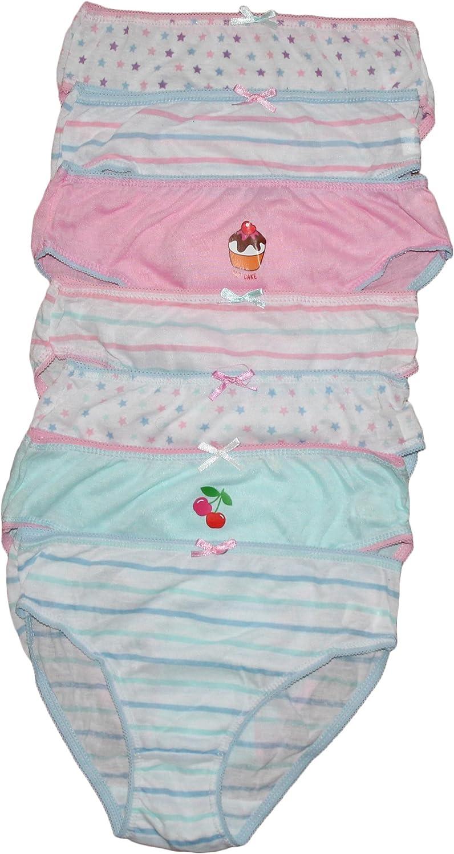 Rjm Childrens 7 Pack Girls Knickers Briefs