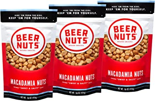 product image for BEER NUTS Macadamia Nuts - 16oz Resealable Bag, Throwback Line Standard Size (3-Pack)