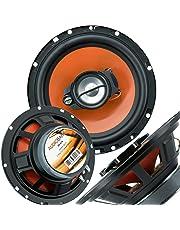 """$21 » Pair of Audiobank 6.5"""" 600 Watt 3-Way Orange Car Audio Stereo Coaxial Speaker - AB674"""