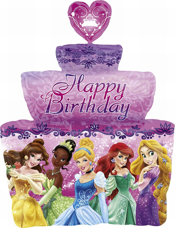 Famoso Principessa Disney Torta Di Buon Compleanno Supershape Lamina  YG89