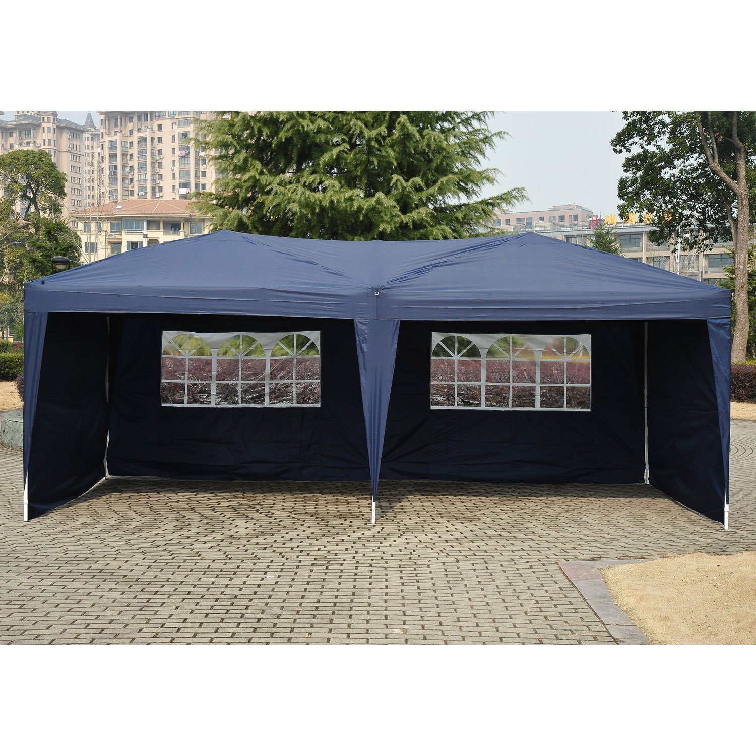 Amazon.com  Outsunny 10u0027 x 20u0027 Easy Pop Up Canopy Party Tent - Navy Blue w/ 4 Removable Sidewalls  Garden u0026 Outdoor  sc 1 st  Amazon.com & Amazon.com : Outsunny 10u0027 x 20u0027 Easy Pop Up Canopy Party Tent ...
