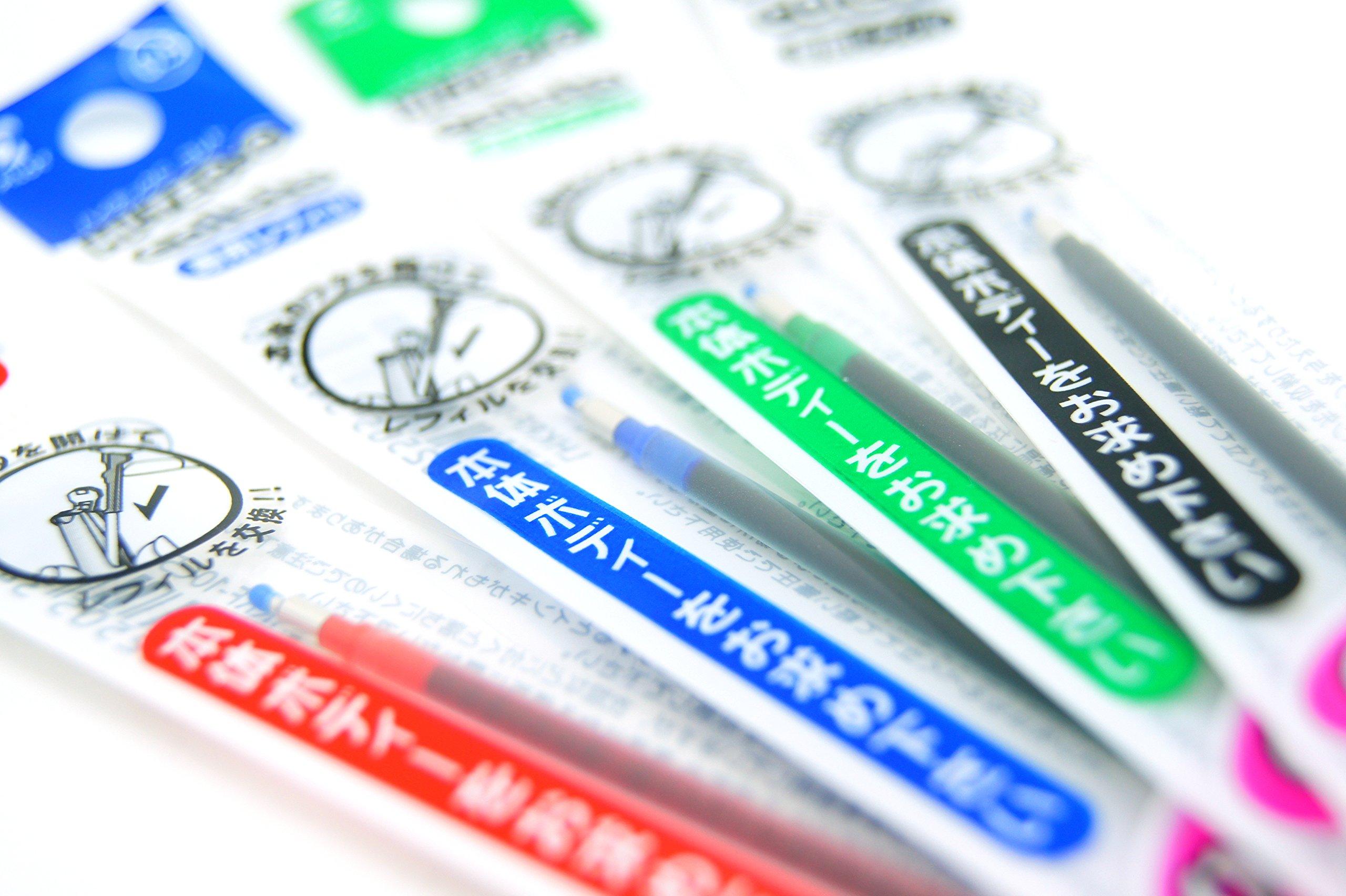 Pilot Hi-tec-c Coleto Gel Ink Pen 0.5mm 15 Color Refills, Mechanical Pencil Unit for 0.5mm Lead, Eraser Unit, Sticky Notes Value Set by Stationery JP (Image #6)