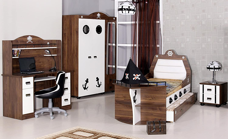 Kinderbett Pirat Bett Junge Mädchen Bett Schiff Kinderzimmer ...