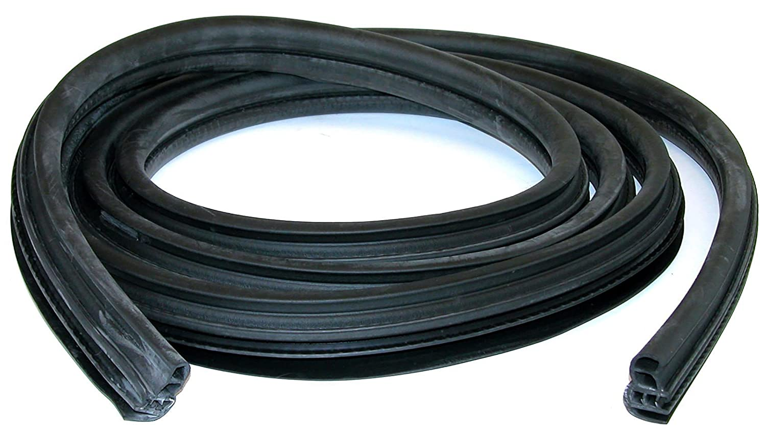 APDTY 140005 Body Mounted Rubber Door Weatherstrip Seal Front Left or Right 2003-2014 Ford F250 F350 F450 F550 Extended Cab aka Super Cab (Does Not Fit Regular or Crew Cab; Replaces 3C3Z-2820708-AB)