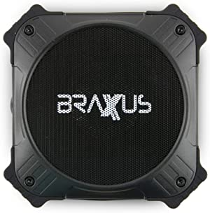 Braxus Solar Portable Bluetooth Speaker - 5w - 12+ Hours Playtime - Our Bluetooth Speaker has 2000mAh Phone Portable Power Bank for Cell Phones, Outdoor IPX6 Waterproof Shower Speaker, Bluetooth 4.2