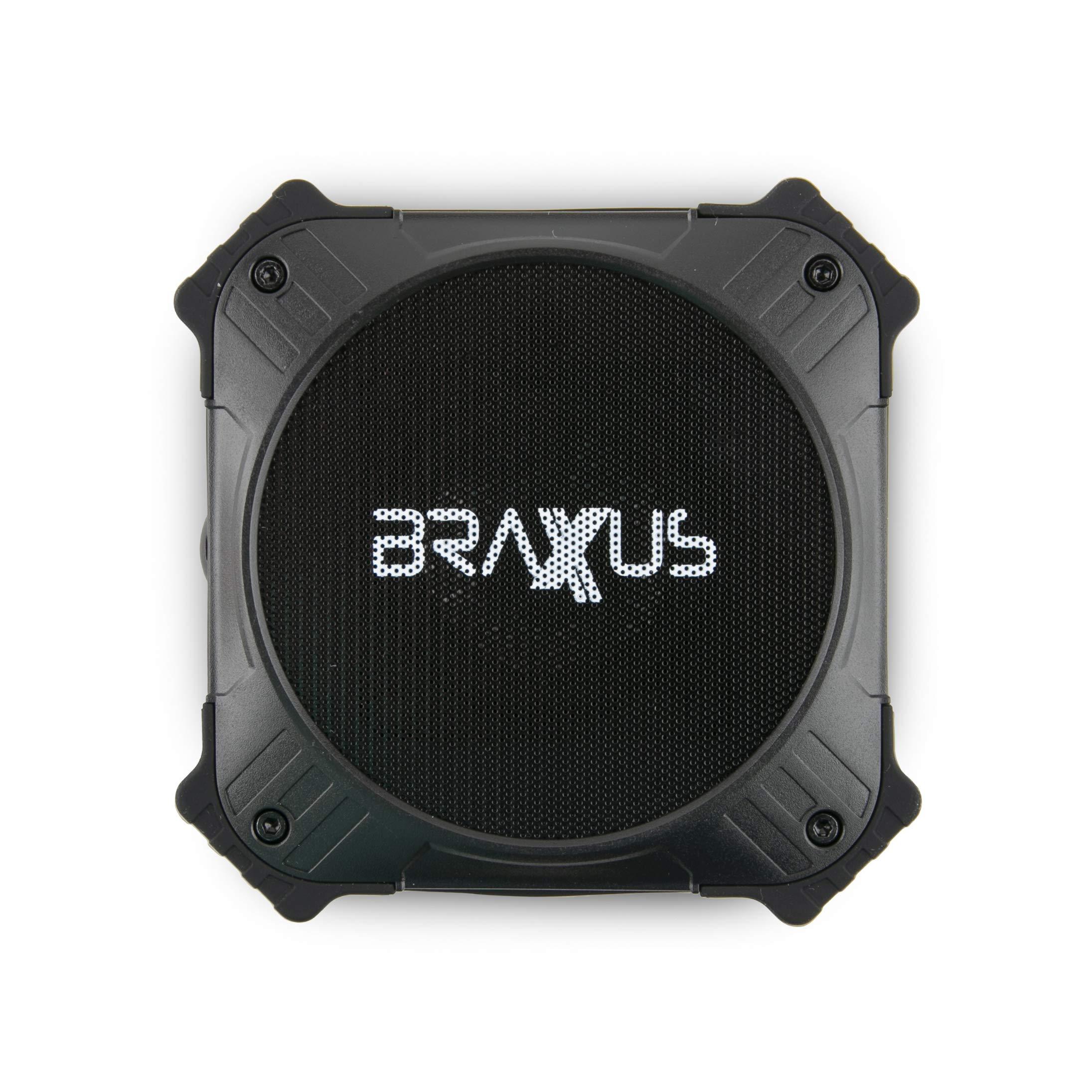 Braxus Solar Portable Bluetooth Speaker 5W, 12+ Hours Playtime Portable Speaker Solar Charger IPX6 Waterproof Wireless Bluetooth 4.2 Speaker, 2000mAh Power Bank for Outdoor Life - Solar Power Bank by Braxus