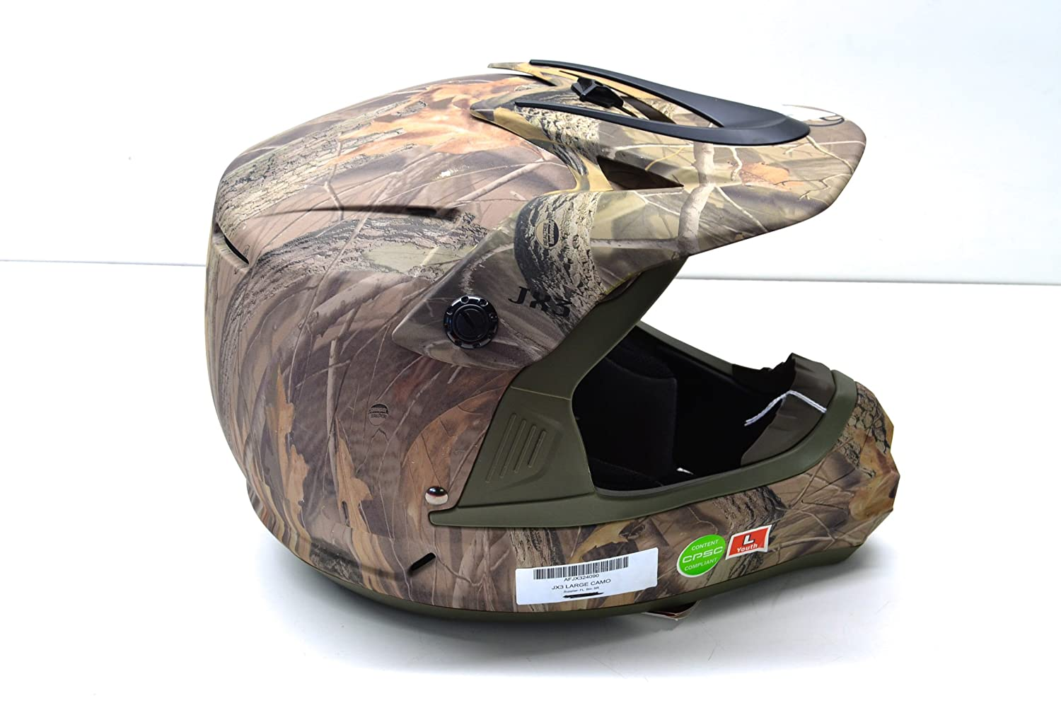 Amazon com: Fulmer AFJX324090 JX3 Camo Helmet Youth Large