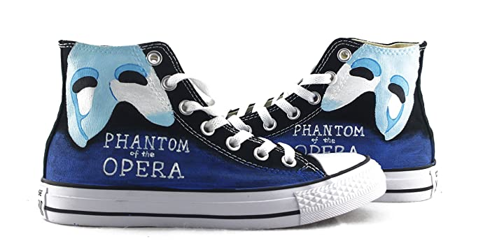 26986e5af9 Amazon.com: The Phantom Of The Opera Sneakers Hand Painted Shoes ...