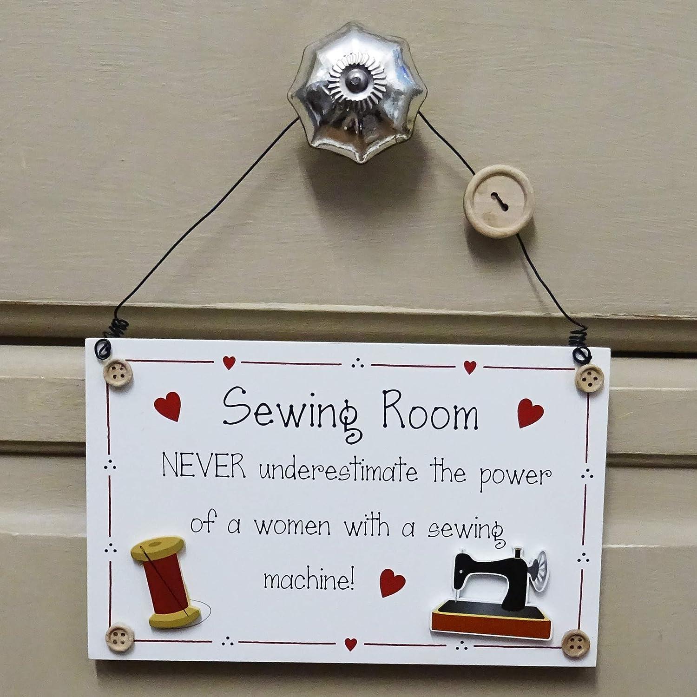 Placa de costura para máquina de coser con texto en inglés
