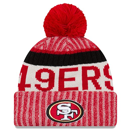 d6187827637 New Era San Francisco 49ers NFL Sideline On Field 2017 Sport Knit Beanie  Beany
